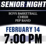 Boys Basketball, Cheer, and Pep Band Celebrate Senior Night on Friday, February 14!
