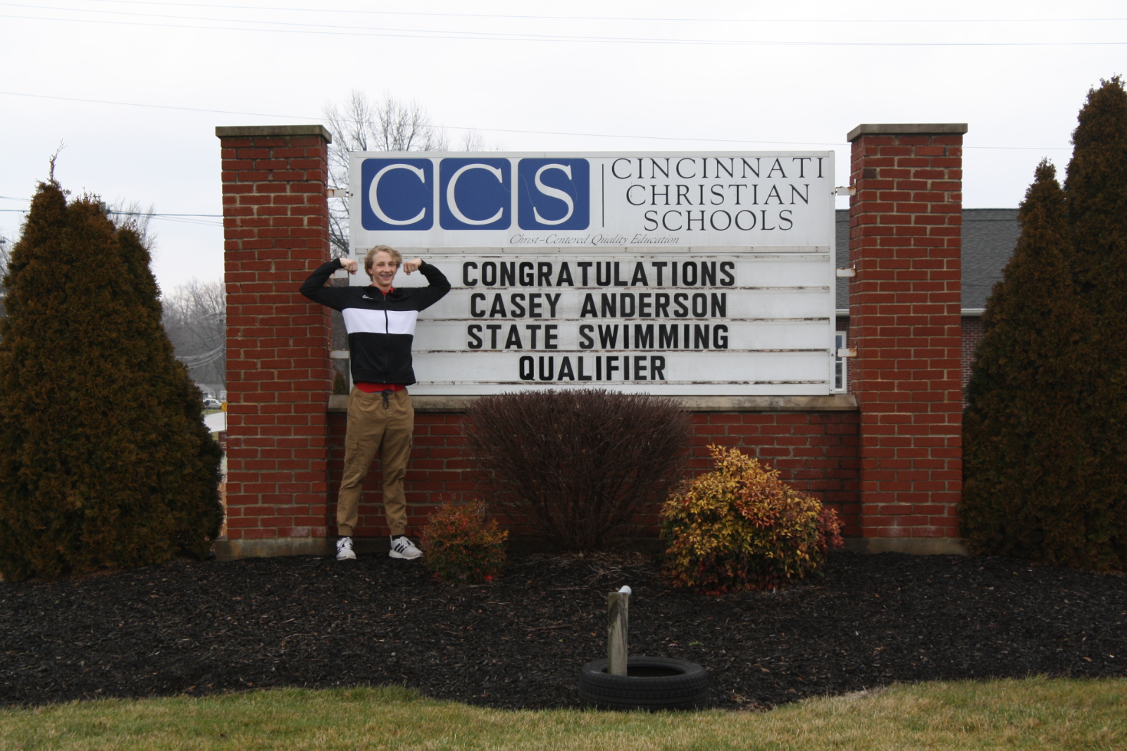 Congratulations to Casey Anderson, state swimming qualifier!