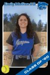 Emily Mullins, Softball, Class of 2020