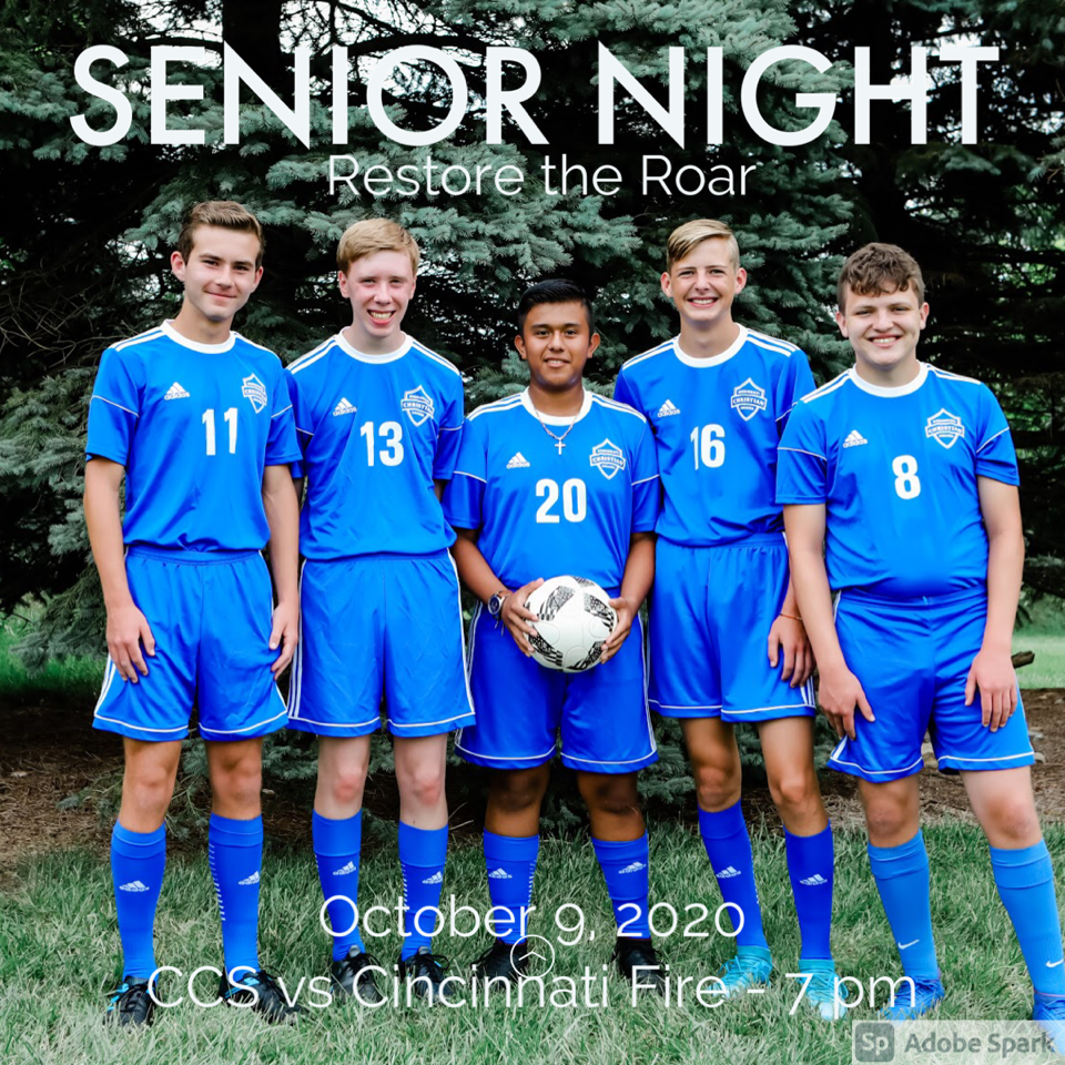 Boys Soccer Senior Night is October 9th!