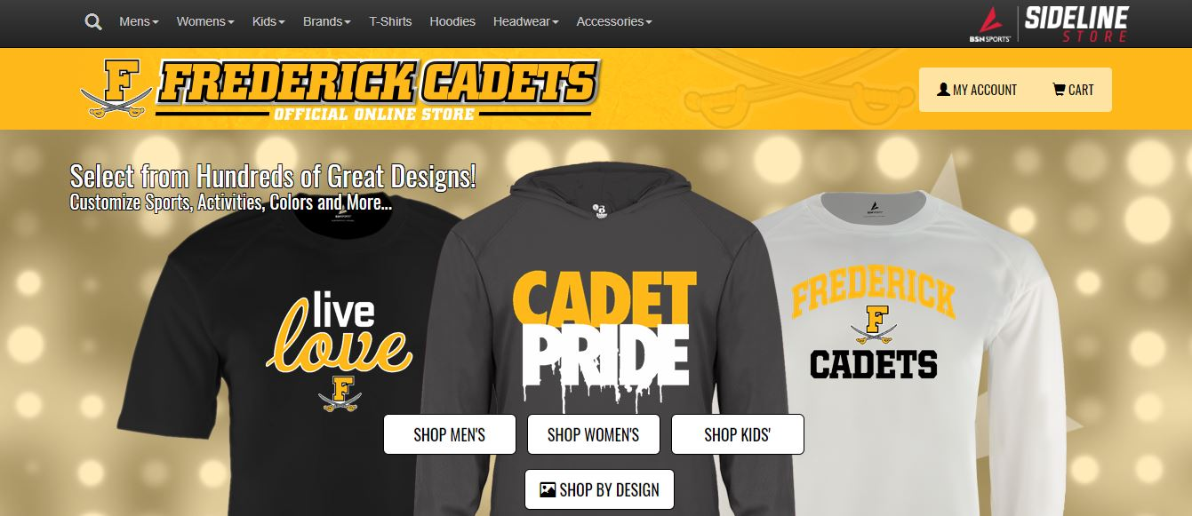 Check out the new Official Cadet Athletics Sideline Store