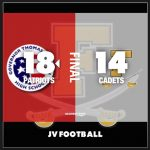 Jv Football: Cadets, Patriots go down to the wire