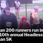Video: LocalDVM.com- More than 200 runners run in the rain for 10th annual Headless Horseman 5K