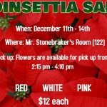 FHS Horticulture Department announces poinsettia sale December 11th-14th