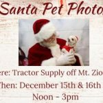 Get your pets photo with Santa this weekend courtesy of the Frederick FFA!