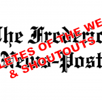 "Effland, Tinney featured in this weeks Frederick News-Post ""Shoutouts"""