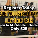 Register today for Cadet Volleyball Camp!