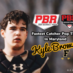 "Cadet Catcher Kyle Brown records fastest ""Pop Time"" in Maryland"