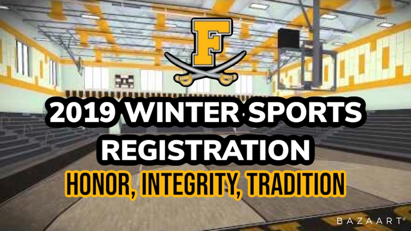 2019 Frederick High Winter Sports Registration Is Now Open. Register today!