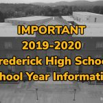 Important 2019-2020 FHS school year information for ALL students, parents/guardians
