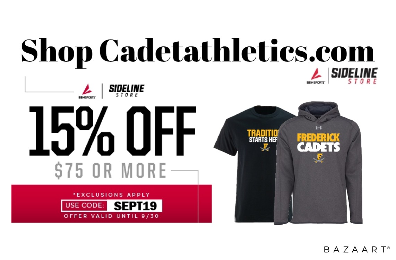 Cadetathletics.com September Sale!