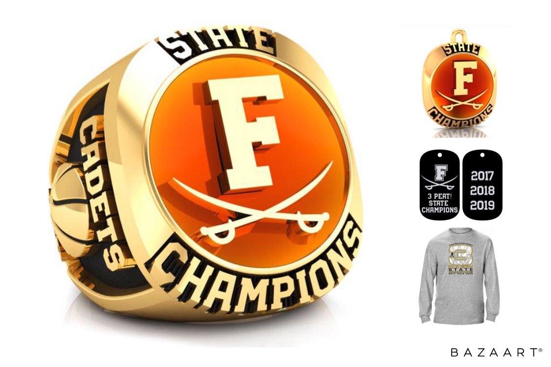 Own your very own FGB 3-Peat State Championship Fan Ring or Pendant.