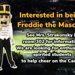 Interested in being Freddie the Mascot?