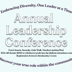 It's time for the FHS annual leadership conference! Friday, September 13th, 6:00-10:30pm