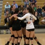 Varsity Volleyball: Cadets sweep Cavaliers. Pierle sets record