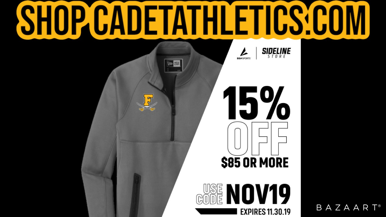 Get 15% off $85 this month at the Cadetathletics.com Sideline Store!
