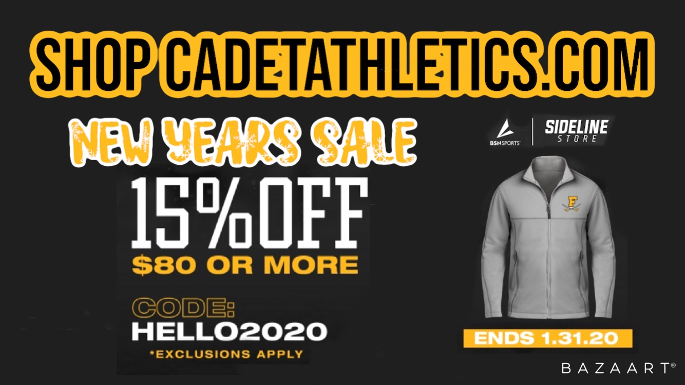 Cadetathletics.com NEW YEARS SALE!! 15% off $80 or more this month