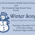 FHS & WFMS invites you to Winter Songs, December 19th