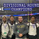 Frederick defeats Oakland Mills in Ravens Rise Combine during halftime of AFC Divisional Playoff Game