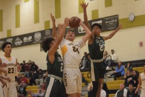 Photo Gallery: Boys Varsity Basketball/Cheerleading vs South Hagerstown