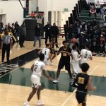 Boys Varsity Basketball: Titans pull away from Cadets for Battle of the Backyard home win.