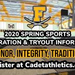 2020 FHS Spring Sport Registration and Tryout Information