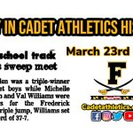 Today in Cadet Athletic History: 3/23/1995- Three Cadets are triple winners as both Boys & Girls Track sweep tri-meet