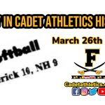 Today in Cadet Athletic History: 3/26/1987- Cadets record 21 hits in 10-9 softball win over North Hagerstown
