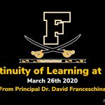 Continuity of Learning at FHS
