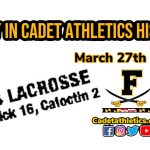 Today in Cadet Athletic History: 3/27/2002- Skaggs, Parsons keep Cadet boys lacrosse undefeated