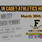 "Today in Cadet Athletic History: 3/30/1923 – Cadets Boys Basketball downs Company ""A"" Militiamen for City Title"