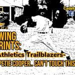 Following Footprints: Cadet Athletic Trailblazers- Petie Cooper.. Can't Touch This