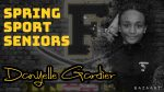 Spring Sport Senior Spotlight: Danyelle Gardier, Cadet Girls Tennis