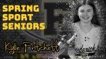 Spring Sport Senior Spotlight: Kylie Pritchett, Cadet Softball