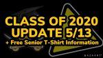 Class of 2020 Update 5/13/2020