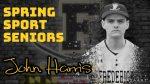 Spring Sport Senior Spotlight: John Harris, Cadet Baseball