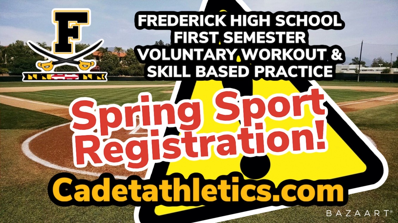 SPRING SPORTS First Semester Voluntary Return to Play Registration