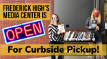 Frederick High's Media Center is Open for Curbside Pickup!