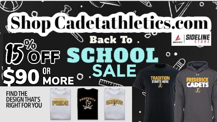 Cadetathletics.com Back To School Sale!!