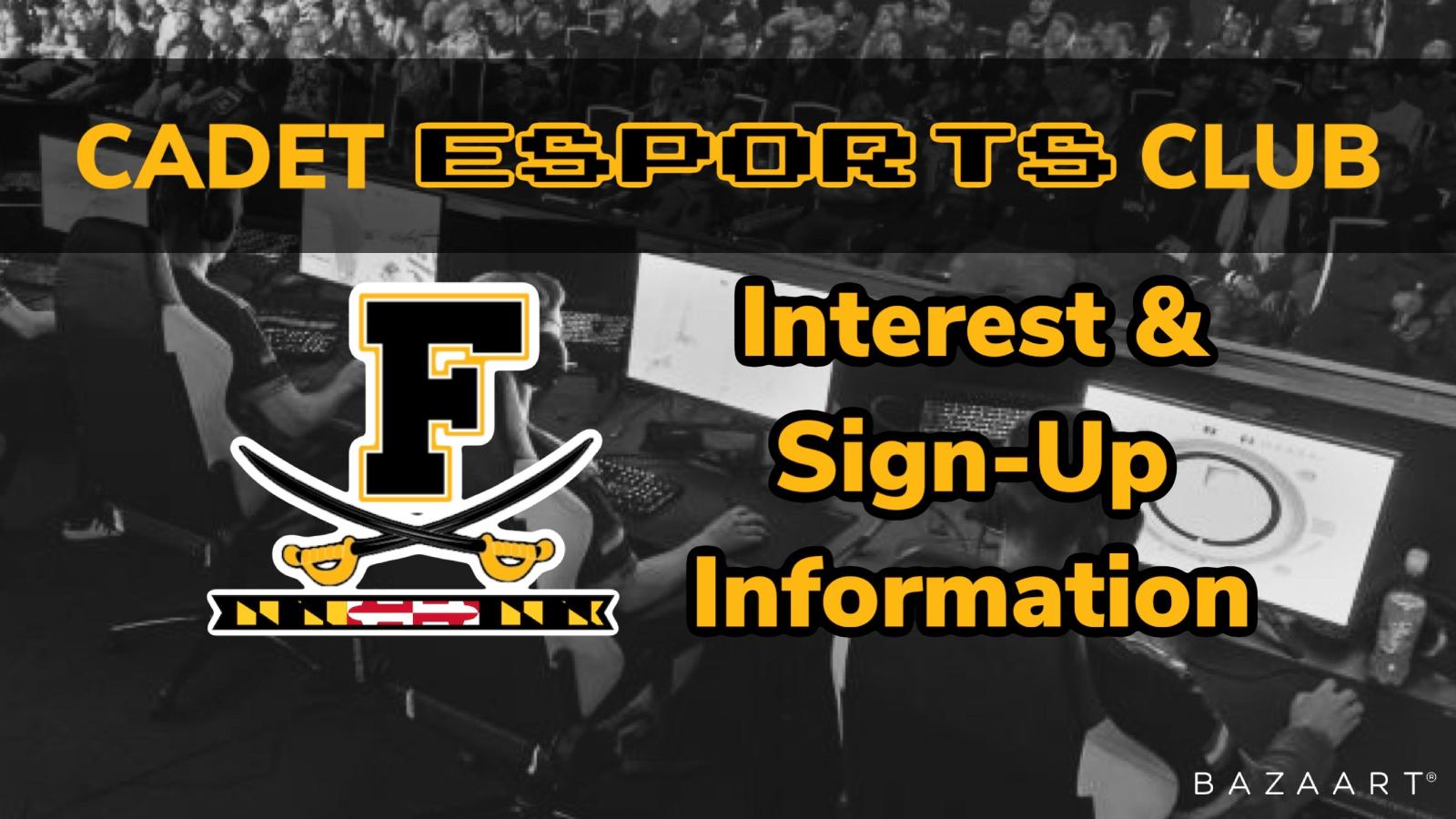 Cadet ESport Club Interest & Sign-Up Information