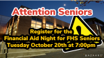SENIORS AND PARENTS- Register for the Financial Aid Night for FHS Seniors