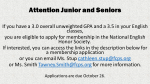 FHS Juniors and Seniors Apply Now for Membership in the National English Honor Society