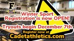 Winter Sports Registration is now open! Tryouts begin on December 7th 2020