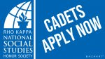 Cadets, Apply now for the Rho Kappa National Social Studies Honor Society