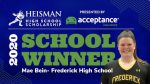 Mae Beins named Frederick High's 2020 School Winner for the Heisman High School Scholarship