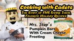 Cooking with Cadets- Mrs. Stup's Pumpkin Bars with Cream Cheese Frosting
