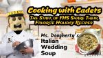 Cooking with Cadets- Ms. Dougherty's Italian Wedding Soup