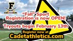 """FALL"" Sports Registration is now open! Tryouts begin on February 13th 2021"