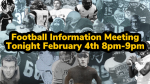 Frederick Football Information Meeting Tonight 8-9pm
