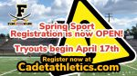 Frederick High Spring Sport Registration is now OPEN!